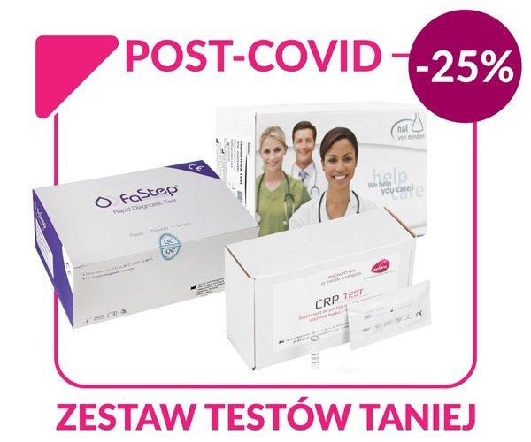 Pakiet Testów Post-Covid | COVID IgG/IgM | CRP | D-Dimer