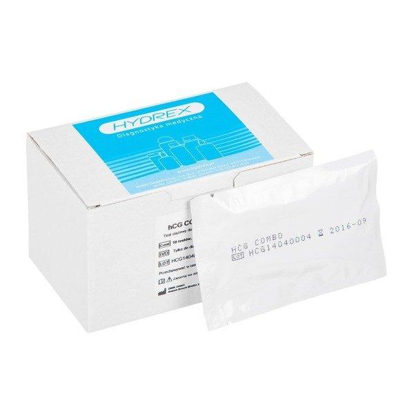 hCG COMBO TEST (10 testów) - test ciążowy płytkowy do wykrywania hormonu hCG w moczu lub surowicy